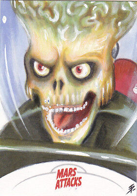 2013 Mars Attacks Invasion sketch card Tim Proctor