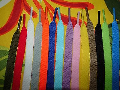 54in 14-Color Choices FLAT Shoelaces Converse Sneakers Sport Athletic Shoelaces