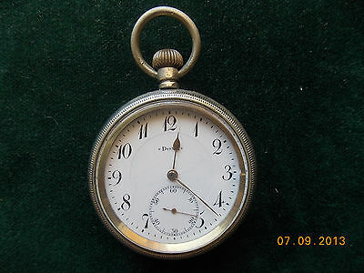 Vintage Men's  Doxa Swiss 1910's Pocket watch  with a Gold plated mechanism