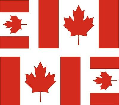 Set of 4x sticker vinyl car bumper decal outdoor car moto world flag canada