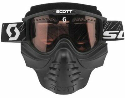 Scott 83X Safari Goggles Facemask w/ Rose Dual Lens/Anit-Fog Snowmobile/Ski/Snow