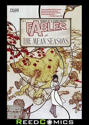 FABLES VOLUME 5 THE MEAN SEASONS GRAPHIC NOVEL New Paperback Collect #22, #28-33