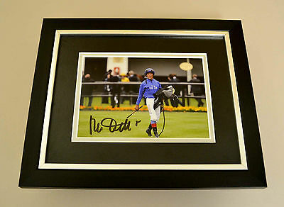 Frankie Dettori Signed 10x8 Photo Framed Display Horse Racing Autograph + COA
