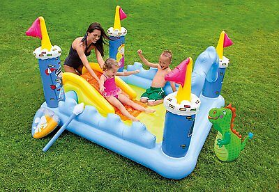Intex Inflatable Fantasy Castle Water Play Center Kids Pool | 57138EP