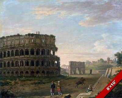 Large Roman Gladiator Warrior Sparta Colloseum Painting Real Canvas Art Print