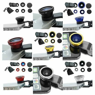 3in1 Fish Eye + Wide Angle + Micro Lens Camera for iPhone 6 plus 5 5S 5C 4S 4