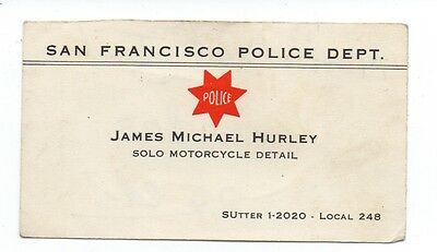 Njsp new jersey state police cherry wood business card holder flip 1950s san francisco police motorcycle officer business card reheart Gallery