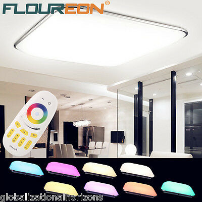 Bright 36W LED Ceiling Down Light RGB Dimmable Kitchen Living Room Lamp Remote
