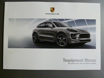 2014 Porsche Macan Tequipment Accessories Showroom Sales Brochure Awesome L@@K