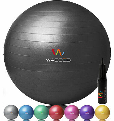 Wacces Exercise Workout Yoga Ball for Yoga Fitness Pilates Sculpting with Pump