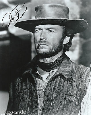 """Clint Eastwood  Autographed B&W 8""""x10""""  Photo Copy """"Two Mules For Sister Sarah"""""""