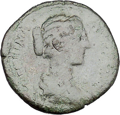 CRISPINA daughter in law of  Marcus Aurelius Big Ancient Roman Coin i45662
