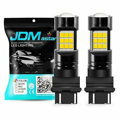 JDM ASTAR 2x 27SMD 3157 3156 LED Bulbs White 2600Lm Back Up Reverse Backup Light