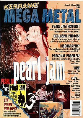 Pearl Jam magazine plus three pull out posters inside issued England March 1994