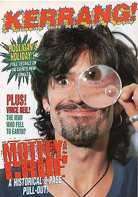 Motley Crue magazine pull-out 8 pages issued in England 1994