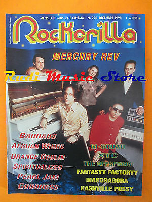rivista ROCKERILLA 220/1998 Mercury Rev Afghan Whigs XTC Cat Power Bauhaus NO cd