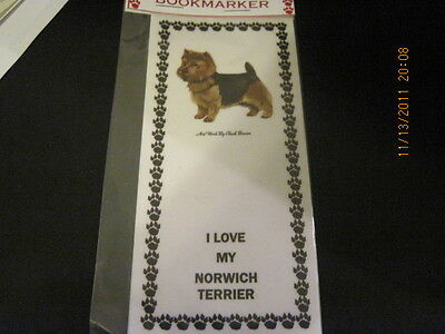 Norwich Terrier 93 Bookmarker Magnetic I Love My