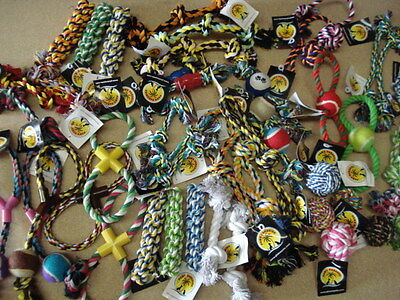 QUALITY CHEAP assorted rope toys x25 RRP £75+++