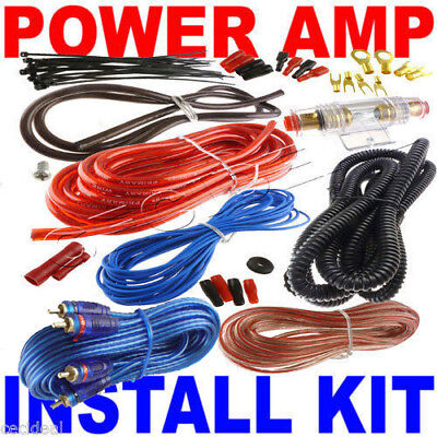 8 Gauge Amp Kit Amplifier Install Wiring Complete 8 Ga Installation Cables 1550W