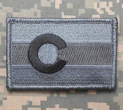 Colorado State Flag Tactical Army Badge Acu Dark Velcro® Brand Fastener Patch