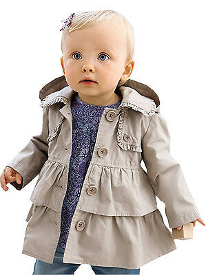 New Baby Clothes 12-18 24 months Toddler Girl Jacket Coat Size 2t 3t 4t 5 FT175