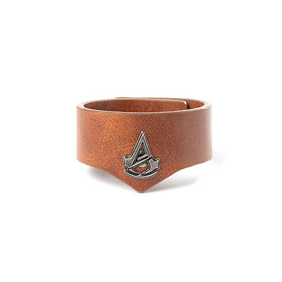 Official Licensed Assassins Creed Unity Brown Faux Leather Effect Cuff Wristband