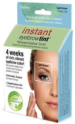 Godefroy instant eyebrow tint kit 6-weeks of rich vibrant color Light Brown