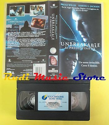 film VHS UNBREAKABLE IL PREDESTINATO 2001 bruce willis TOUCHSTONE (F55**) no dvd