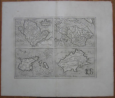 Mercator: Channel Islands Jersey Guernsey Isle of Wight - 1640