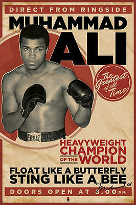 "Muhammad Ali LAMINATED POSTER ""Direct From Ringside, Boxing Great"" NEW Licensed"