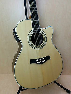 EKO Riccardo Zappa Signature Acoustic guitar w/built in EQ,Cutaway. Natural.