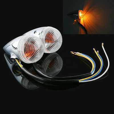 Clear Bullet Front Turn Signal Indicator Light For YAMAHA XV1900 2006-2013 2012