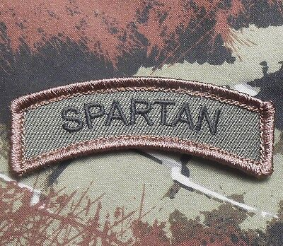 Spartan Army Tab Rocker Morale Usa Badge Forest Velcro® Brand Fastener Patch