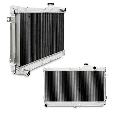 Twin Core Aluminium Alloy Race Radiator For Mazda Mx5 Mk1 Miata 1.6 1.8 90-97