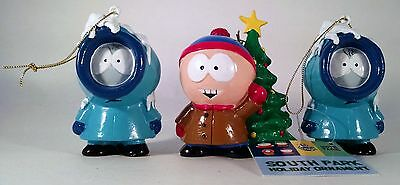 Lot of 3 South Park Christmas Ornaments Two Kenny and One Stan Comedy Central