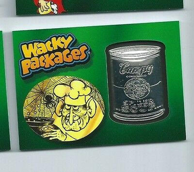 2014 Wacky Packages medallion Campy Spider Soup