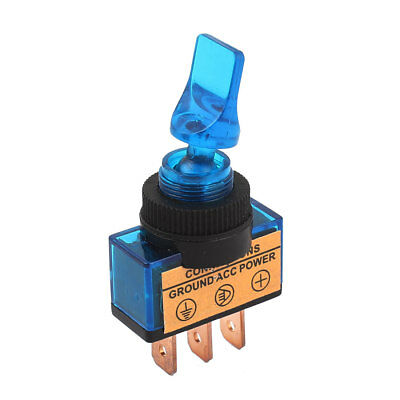 DC 12V Blue LED Lamp 2 Position ON/OFF SPST Car Auto Truck Marine Toggle Switch