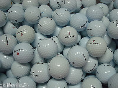 50 Taylor-Made Miste Palline Palle Da Golf Usate Cat. Pearl-Aaa