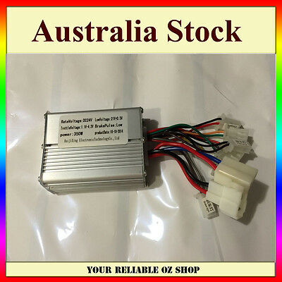 24V 350W Motor Speed Controller Control Box Electric Scooter Brush Bike Bicycle