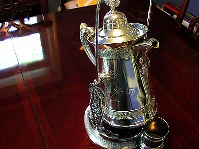 Silver Plated Antique Coffee Pot/stand/cup