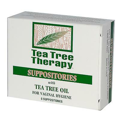 Tea Tree Therapy, 6 Suppositories, with Tea Tree Oil, for Vaginal Hygiene