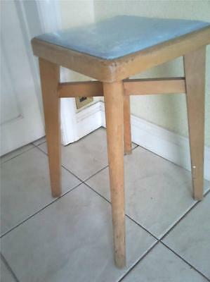 1960 's vintage kitchen stool with iconic blue coloured top suit Formica table