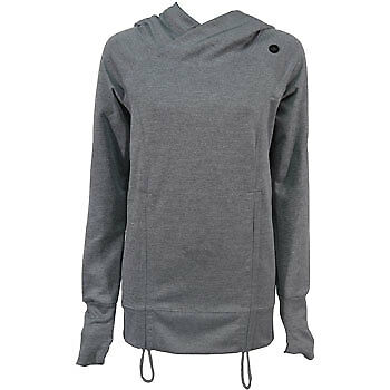 More Mile Fitness Long Sleeve Ladies Running Hoody - Grey