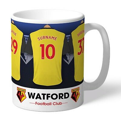 Personalised WATFORD Football Club FC Dressing Room Mug Gift