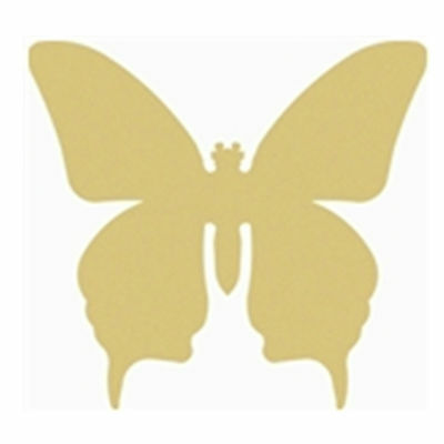 Butterfly Cutout Unfinished Wood Spring  Door Hanger MDF Shape Canvas Style 1