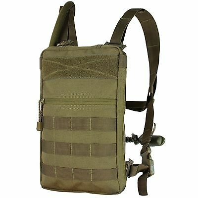 NEW Condor #111030 Tactical MOLLE Tidepool Hydration Carrier w/1.5 L Bladder TAN