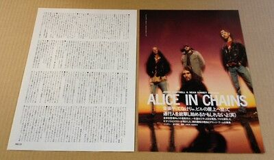 1997 Alice In Chains 2pg 1 photo JAPAN mag article /press clippings cuttings 01r