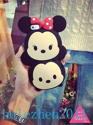 Lovely Black TSUM TSUM MICKEY IPHONE 4S 5/5S 6 /6 PLUS Soft CASE For GIFTS NEW