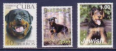 Rottweiler Dogs 3 different MNH stamps ROTT12