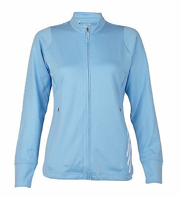 Adidas Ladies Golf Climalite Zip Jacket Tracksuit Top - Blue Size 16
